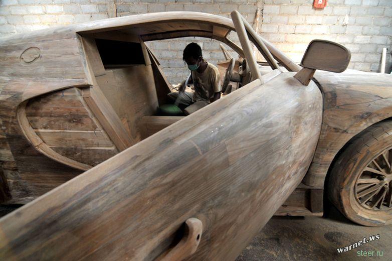 Bugatti Veyron Super Sport из дерева