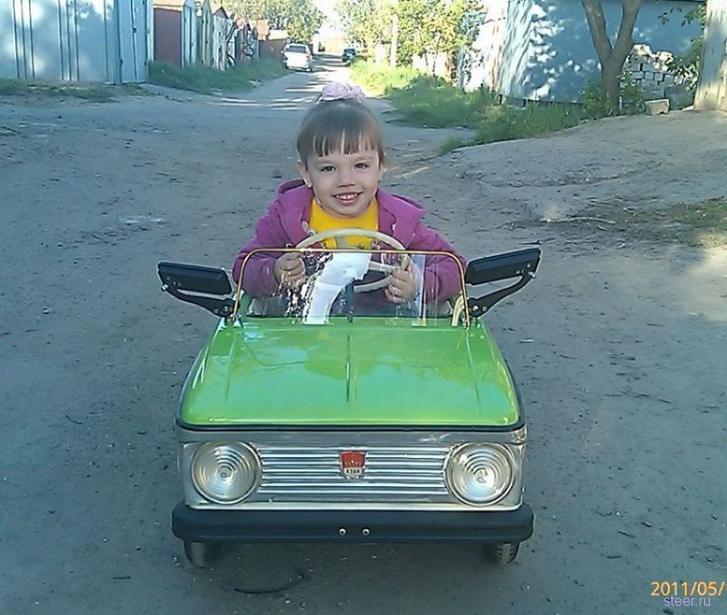 Восстановление детской машинки Москвич