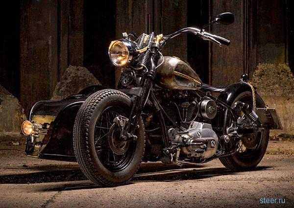Харли-Днеперсон : стим-панк колясочник на основе «Днепра» и Harley-Davidson