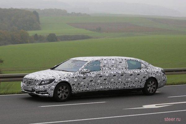 «Лимузин для президента» Mercedes-Maybach Pullman сфотографировали на испытаниях