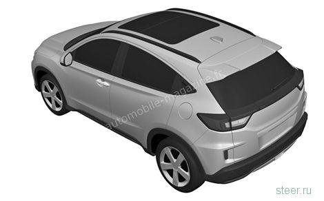 Honda показала первые изображения нового кроссовера HR-V+