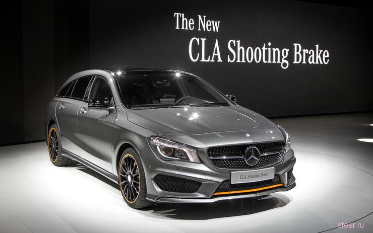 Официальные фото маленького спортуниверсала Mercedes-Benz CLA Shooting Brake