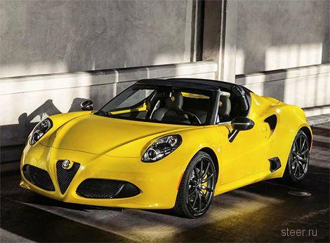 Концепт компактного родстера Alfa Romeo 4C Spider пойдет в серию