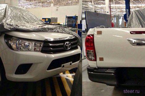 Шпионы показали фотографии нового Toyota Hilux