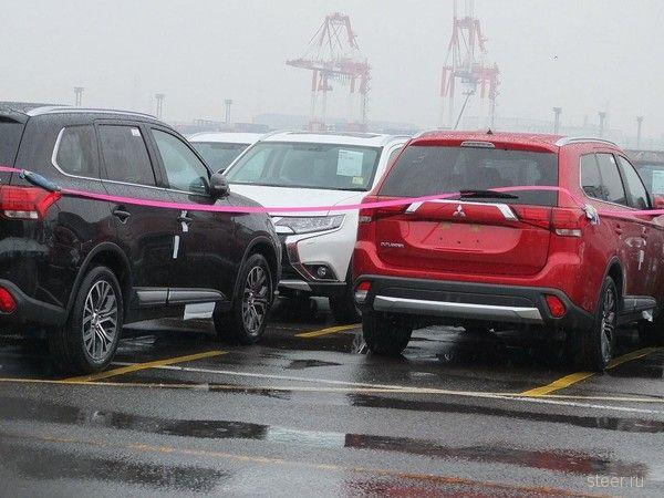 Первые фото обновлённого Mitsubishi Outlander