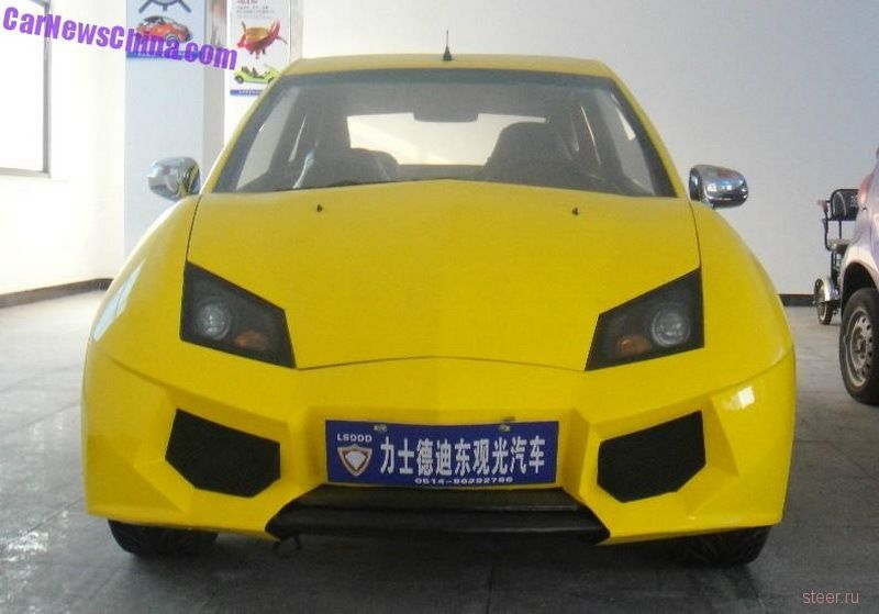 Китайцы построили электрокар в стиле Lamborghini мощностью 10 л.с. и ценй 500 тысяч рублей