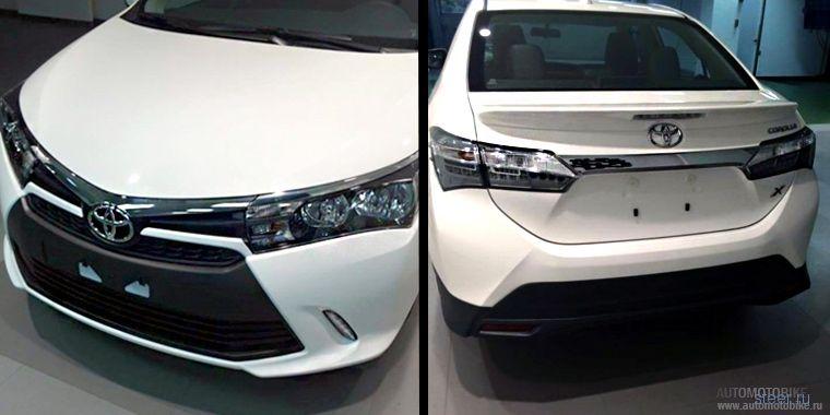 Первые фото обновленной Toyota Corolla