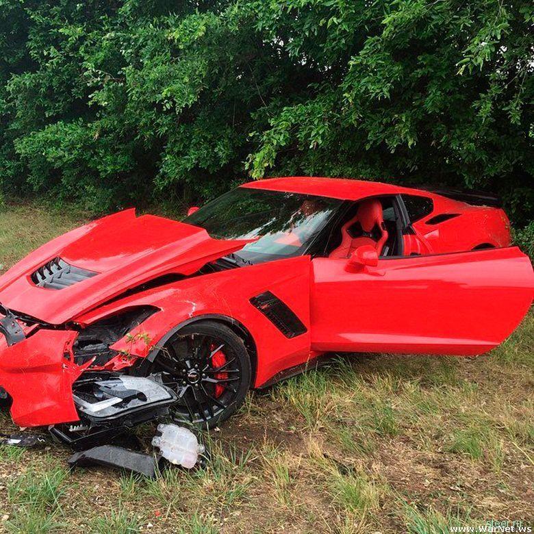 Как угробить новенький Corvette Z06 за считанные секунды