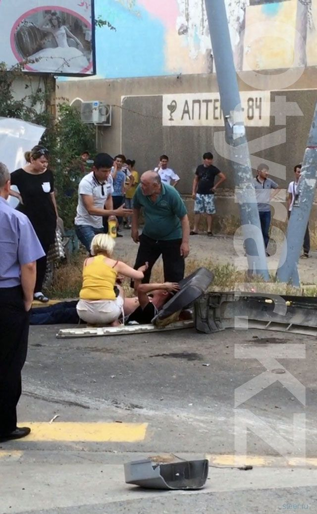 Жуткое ДТП со смертельным исходом в центре Шымкента