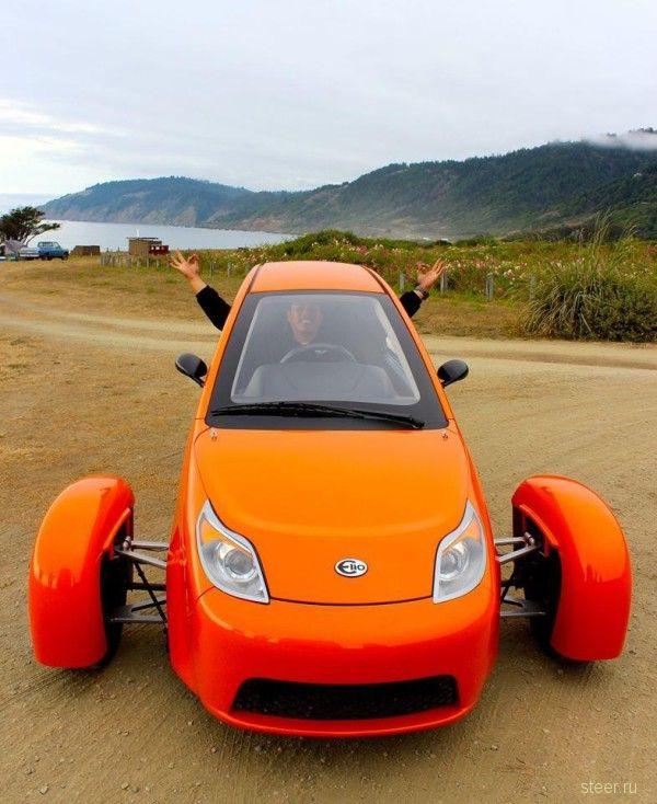 Представлен 3-колесный Elio P5 с расходом топлива 2,8л на 100 км