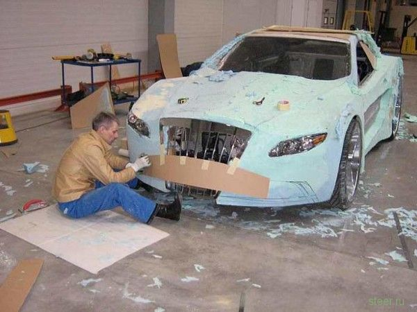 Как построить суперкар из хлама и монтажной пены