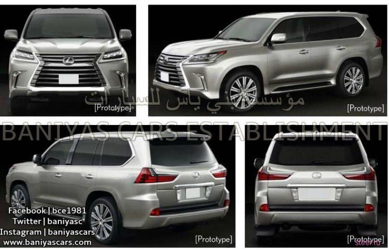 Предварительные изображения обновленного Lexus LX