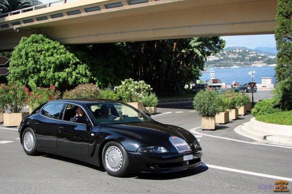 Уникальный концепт Bugatti EB112 замечен в Монако