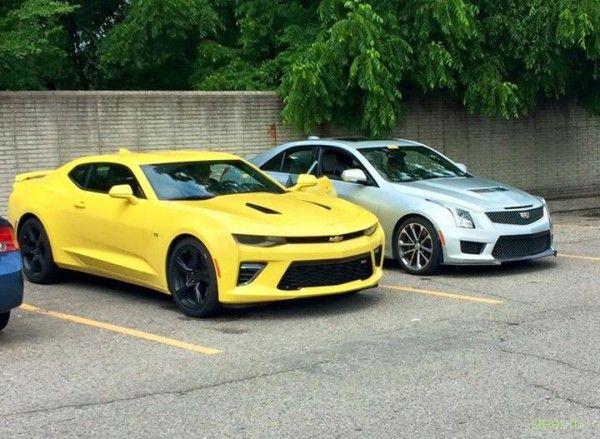 Chevrolet Camaro SS 2016 замечен в Детройте