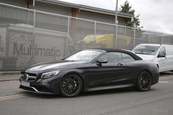 Кабриолет Mercedes S63 AMG пойман во время тестов