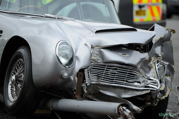В Британии разбили Aston Martin Джеймса Бонда за полтора миллиона