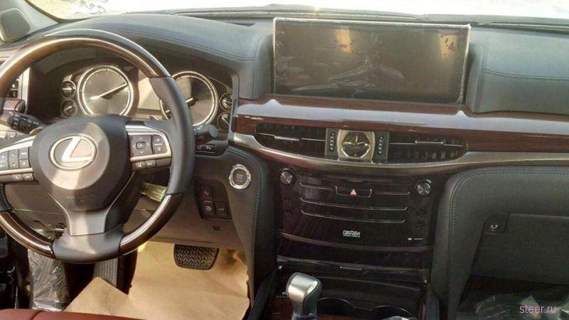 Шпионские фото рестайлингового Lexus LX
