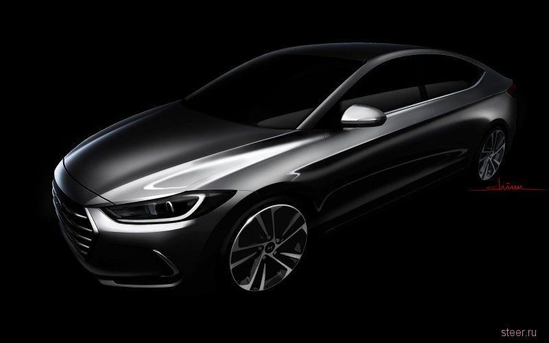 Первые изображения новой Hyundai Elantra