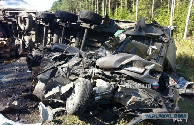 Массовое ДТП на трассе 'Вологда-Новая Ладога'