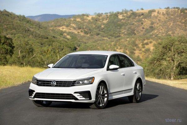 Обновленный Volkswagen Passat показали в США