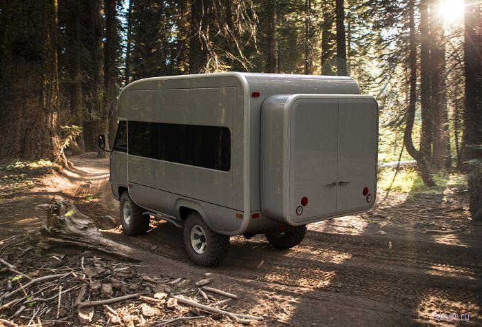 УАЗ представил проект автодома на базе «Буханки»