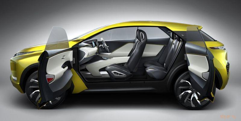 Первые изображения электрического кроссовера Mitsubishi eX