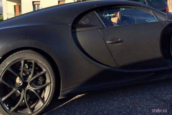 Новый Bugatti Chiron сфотографировали во время тестов