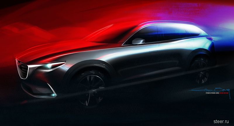 Первое изображение кроссовера Mazda CX-9