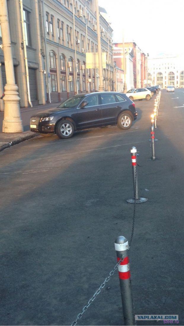 Парковка у Администрации Президента РФ