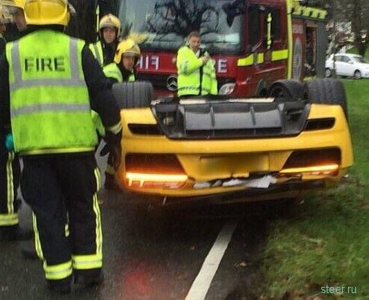 В Великобритании парень перевернул на крышу новый Audi R8