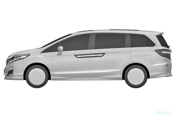 Патентные изображения нового минивэна Honda