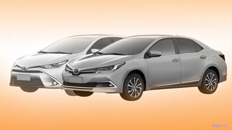 Каким будет дизайн обновленной Toyota Corolla
