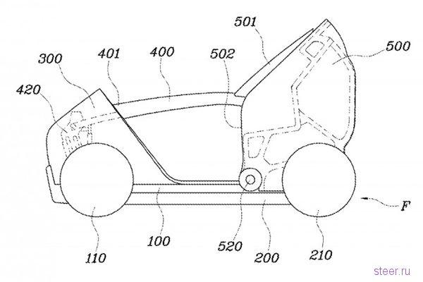 Hyundai разрабатывает складывающийся автомобиль