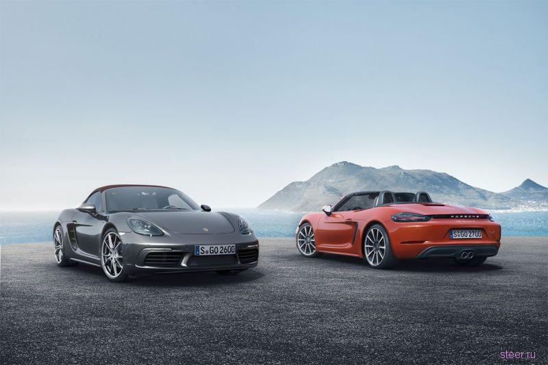 Компания Porsche представила спорткар 718 Boxster