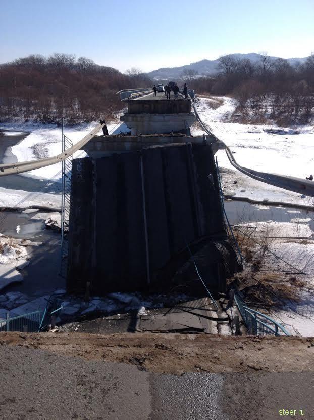 На трассе Владивосток—Находка рухнул мост