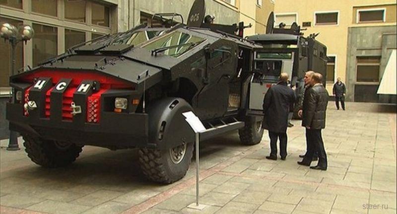 Путину показали бронеавтомобили Фалькатус и Викинг