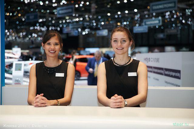 Девушки автосалона Женева 2016