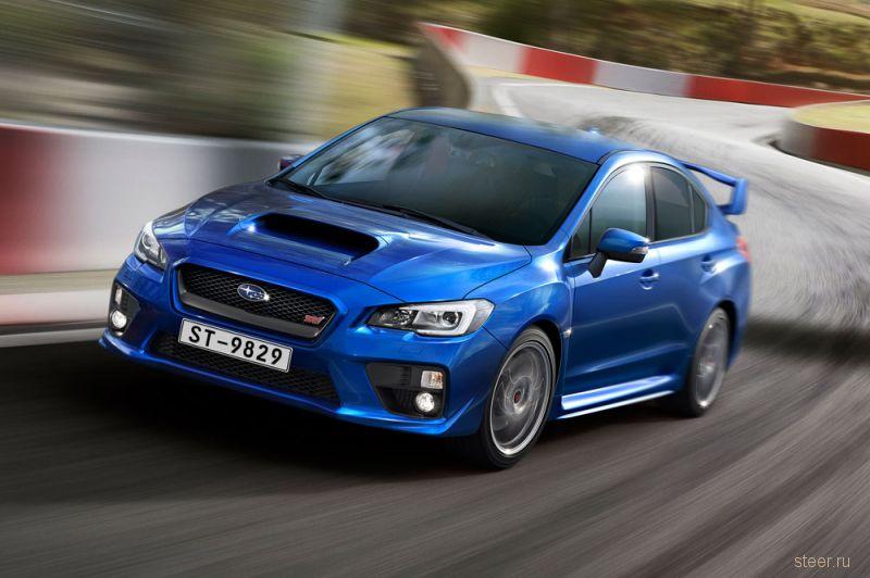 Subaru WRX STI после рестайлинга подорожала на 1,65 миллиона рублей