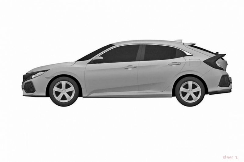 Патентные изображения хэтчбека Honda Civic нового поколения