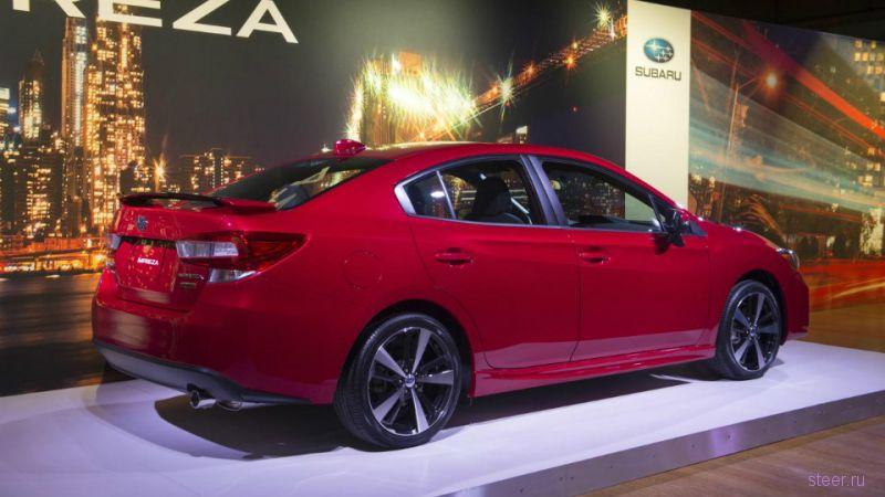 Первые фотографии нового седана Subaru Impreza