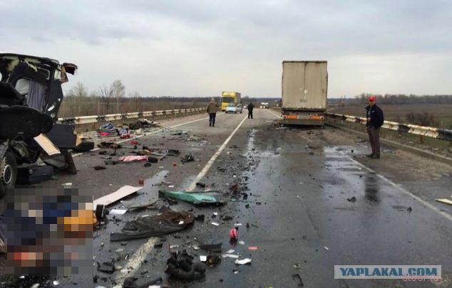 Жуткое ДТП под Лубнами: микроавтобус столкнулся с грузовиком - восемь погибших