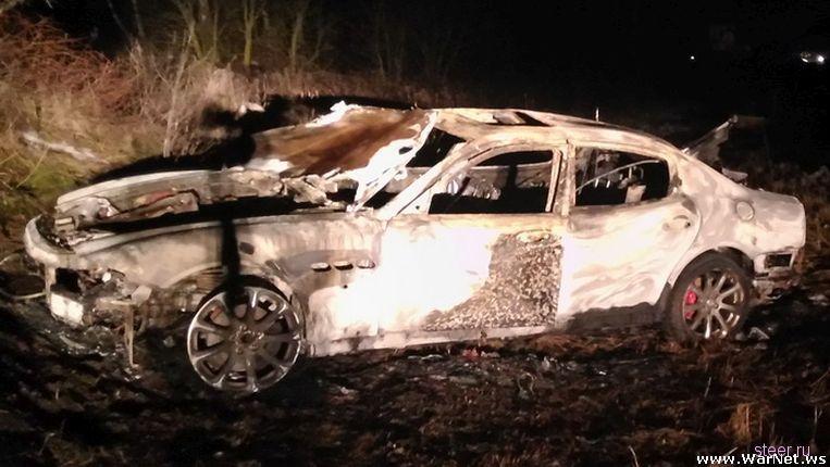 Maserati сгорел в последний день действия страховки