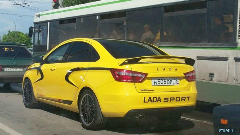 Первое фото «спортивной» версии Lada Vesta