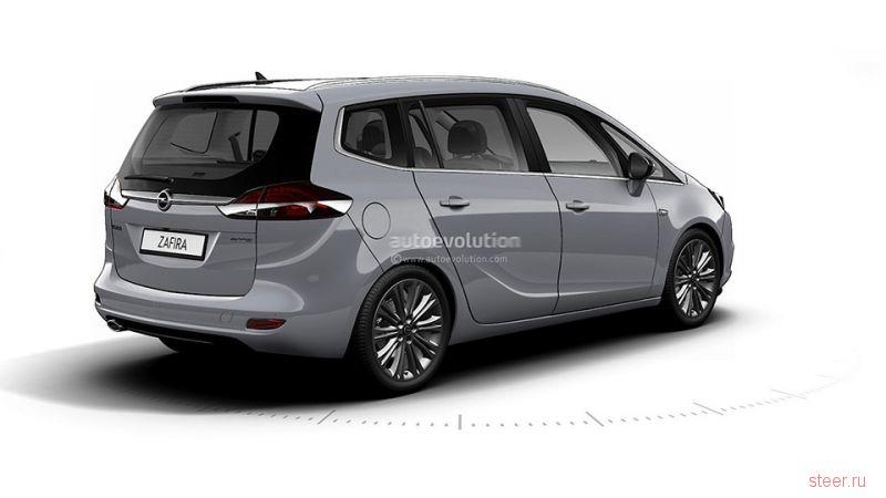 Первые изображения обновленного Opel Zafira