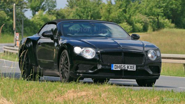 Первые фото кабриолета Bentley Continental GT