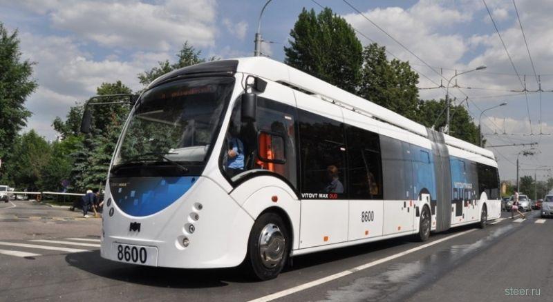 Первый троллейбус без проводов вышел на линию в Москве