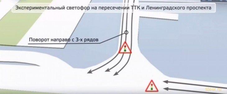 Заработал экспериментальный светофор на ТТК в Москве
