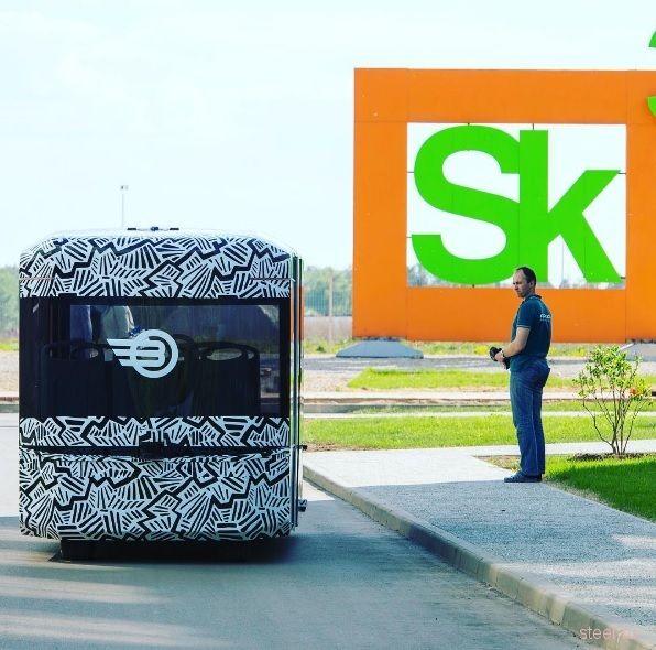 В Сколково испытывают российский беспилотный электробус Volgabus