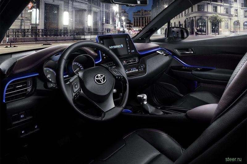Первые фото салона кроссовера Toyota C-HR