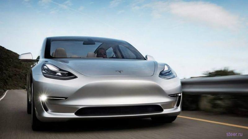 Самая доступная Tesla Model 3 получит 435-сильный электромотор и будет мощнее BMW M3
